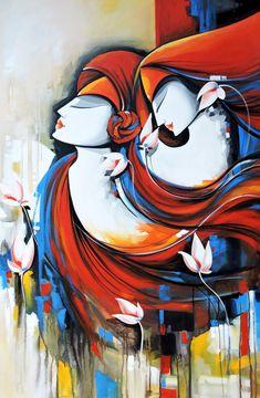 Modern Indian Art, Indian Folk Art, Acrylic Painting Canvas, Abstract Canvas, Canvas Art, Indian Art Paintings, Modern Art Paintings, Paintings Online, Painting Gallery