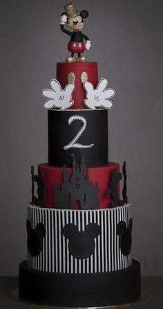 trendy birthday cake fondant ideas minnie mouse trendy birthday cake fondant ideas minnie mYou can find Mickey cakes an. Pastel Mickey, Mickey And Minnie Cake, Bolo Mickey, Mickey Mouse Birthday Cake, Mickey Mouse Cupcakes, Mickey Cakes, Cake Birthday, Fondant Cakes, Cupcake Cakes