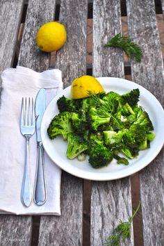 Broccoli in Lemon Dill Dressing (Paleo diet side dish).