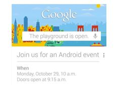 Google Android Event October 29