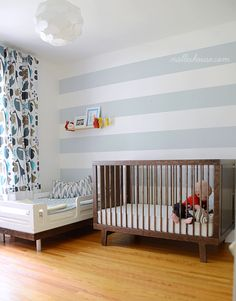 Shared toddler and baby room. Just in case we are having another boy this would be a possibility as a shared room with Troy.