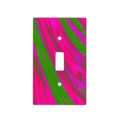 Bright pink green design light switch, many styles to choose from #zazzle #pink #decor #trends