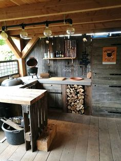 Outdoor cooking locations have become really popular of late. Hence various sort… Outdoor cooking locations have become really popular of late. Hence various sort…,Outdoor Kitchen Outdoor cooking locations have become really popular of late. Rustic Outdoor Kitchens, Outdoor Kitchen Bars, Backyard Kitchen, Summer Kitchen, Outdoor Kitchen Design, Backyard Patio, Kitchen Decor, Kitchen Rustic, Rustic Outdoor Bar