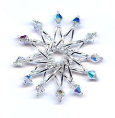 Image result for beaded snowflake pattern long bugle beads