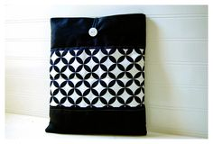 loving the geometric look!    iPad 3 Black iPad Case Quilted Geometric Ipad Bag iPad by hoganfe