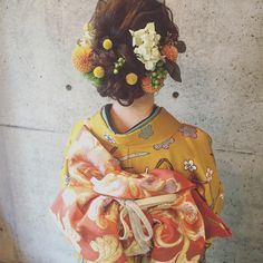 Up Styles, Hair Styles, Kimono Japan, Wedding Kimono, Japanese Wedding, Hair Arrange, Japanese Hairstyle, Head Accessories, Hair Images