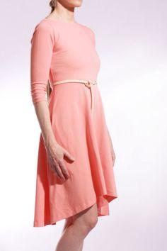 MIESTNE ŠATY ÁČKOVÉ (KORALOVÉ)   Dámske - Miestni   Miestni.sk High Neck Dress, Spandex, Dresses, Fashion, Turtleneck Dress, Vestidos, Moda, Gowns, Fasion