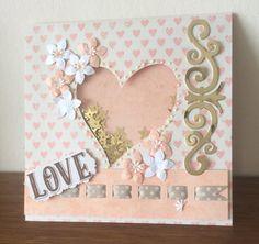 Dovecraft ~ volver a lo esencial ~ Goody bolsa de elaboración de Tarjetas ~ hace 6 tarjetas ~ Rosa