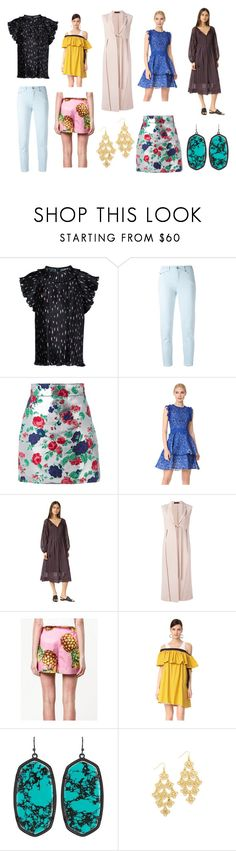 """""""Go For Fashion"""" by donna-wang1 ❤ liked on Polyvore featuring AkikoAoki, Tommy Hilfiger, MSGM, Costarellos, Steven Alan, Calvin Klein Collection, Dolce&Gabbana, Isa Arfen, Kendra Scott and Adia Kibur"""
