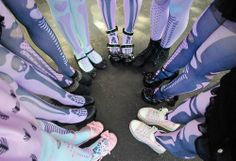 pastel goth leggings and shoes
