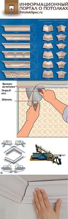 Чем и как приклеить потолочный плинтус на обои правильно своими руками и что клеится сначала: советы и рекомендации с фото- и видео- инструкцией