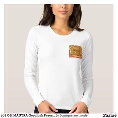 108 OM MANTRA Goodluck Peace Symbol Shirt