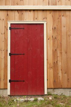 Red barn door entran