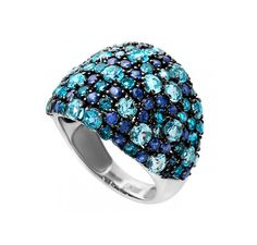 14k gold Sapphire ring Blue Topaz Ring jewelry  by 609JEWELRY