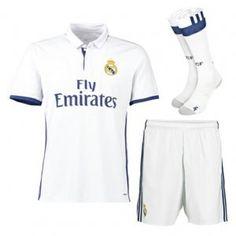 Real Madrid C.F 16-17 Season Home Soccer Uniform (Shirt+Shorts+Socks) [G547]