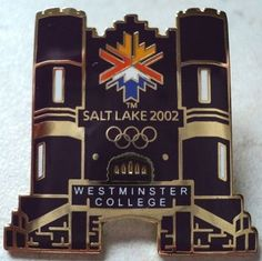 West Minister College Salt Lake 2002 Olympic Games Olympics Purple Goldtone Pin  - This Item is for sale at LB General Store http://stores.ebay.com/LB-General-Store ~Free Domestic Shipping