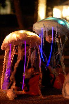 Glow in the dark jellyfish costumes