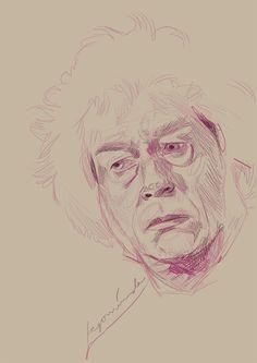 Ollivander Sketch by Begominola.deviantart.com on @DeviantArt