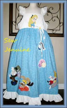 Disney inspired custom boutique Princess Alice in Wonderland pageant dress. $200.00, via Etsy.
