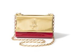 The A Bag in red and gold