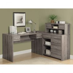 99+ L Shaped Desks for Home Office - Country Home Office Furniture Check more at http://www.sewcraftyjenn.com/l-shaped-desks-for-home-office/