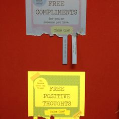 I hung these on the bulletin board in our teachers lounge. People seem to like it. :-)