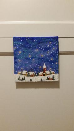 Bild Weihnachts Stadt Leuchtet im dunkeln Wanddeko von liebe-das-beste auf DaWanda.com