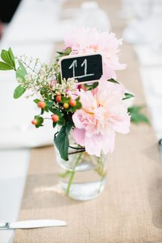 peonies + mason jars | Julie Lim #wedding