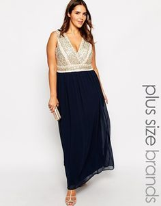 dd24cc22f11 Lovedrobe Luxe Wrap Over Embellished Maxi Dress at asos.com. Plus Size ...