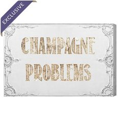 Champagne Problems Canvas Print, Oliver Gal  at Joss and Main