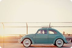 Aww, this reminds me of the first car I owned - my baby blue VW Super Beetle, 5 speed, w/Sunroof!!!!!
