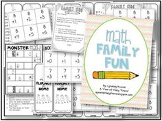 (FREE and editable!) Common Core Math Family Fun - Send a bag of resources home with students to build their math fluency!