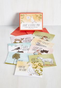 Have a Little Pun Notecard Set - From The Home Decor Discovery Community At www.DecoandBloom.com