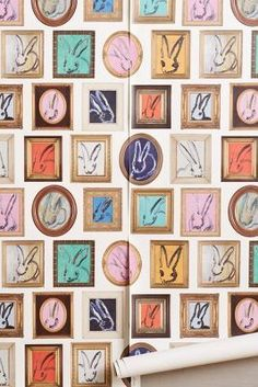 Anthropologie Rabbit Frames Wallpaper