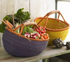 These vibrant baskets are hand woven in Ghana, your purchase will provide vital income to those who wove them.