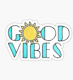 'Good Vibes' Sticker by Jamie Maher – Car stickers Stickers Cool, Red Bubble Stickers, Tumblr Stickers, Printable Stickers, Cute Laptop Stickers, Macbook Stickers, Phone Stickers, Snapchat Stickers, Image Tumblr