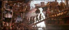 Hook (1991, dir. Steven Spielberg), Art Direction Andrew Precht, Thomas E. Sanders. Set Decoration Garrett Lewis