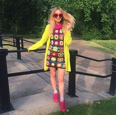 No-one does summer style quite like this beauty - LuLu Trixabelle in the MIX's Lola hearts. Sunnies, Fans, Hearts, Rainbow, Summer Dresses, Stylish, Model, Fashion, Moda