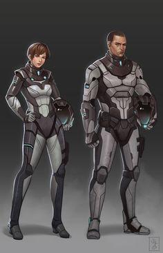 Sci-Fi Character Concept, Jenisse Kaye Gidoc