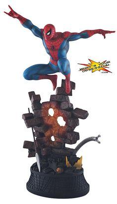 Bowen Designs Amazing Spider-Man Action Blue Statue - US$ 150