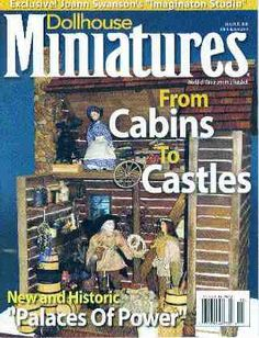 Cover of Dollhouse Miniatures Magazine, January 2005 with my article and First Prize-winning Log Cabin by Roz