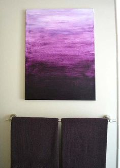 DIY Purple Room Decor - DIY Purple Ombre Painting- Best Bedroom Ideas and Projects in Purple - Cool Accessories Crafts Wall Art Lamps Rugs Pillows for Adults Teen and Girls Room Purple Bedrooms, Teen Girl Bedrooms, Purple Ombre, Diy Ombre, Purple Art, Purple Canvas Art, Rooms Ideas, Bedroom Ideas, Bedroom Wall