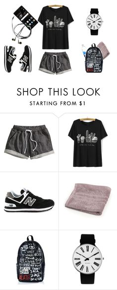 """""""gym day"""" by akts on Polyvore featuring H&M, New Balance, Haculla, Rosendahl and Huawei"""