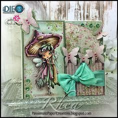 Passionate Paper Creations: Octavia Moonfly - Polkadoodles with By DIEzyne Dies