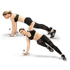 Transform your body in 4 weeks with this calorie-torching exercise series from celeb trainer Jillian Michaels. Start training with moves like this twisted renegade for a fit physique. | Health.com
