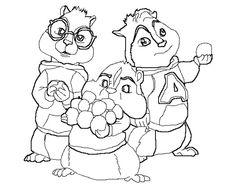 alvin and the chipmunks drawings az coloring pages