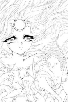 Emeraude Lineart by Hatsukori.deviantart.com on @deviantART