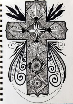 zentangle cross
