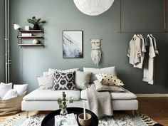 my scandinavian home: Small Space Inspiration: A Delightful Green and White Swedish Flat With a Pretty Bed Nook Interior Design Inspiration, Decor Interior Design, Interior Decorating, Swedish Interior Design, Room Inspiration, Small Space Living, Small Spaces, Bed Nook, Interior Color Schemes