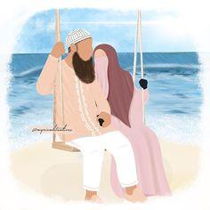 Cartoon Kids, Baby Cartoon, Abstract Pencil Drawings, Hijab Drawing, Islamic Cartoon, Pinterest Photography, Anime Muslim, Hijab Cartoon, Pop Art Girl
